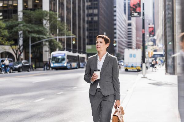 usa new york city businesswoman in