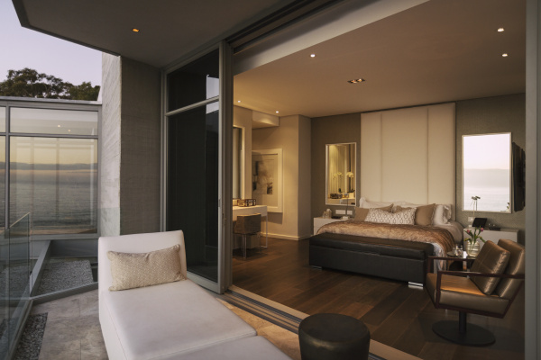 modern luxury home showcase bedroom open