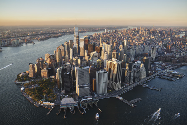 usa new york aerial photograph of