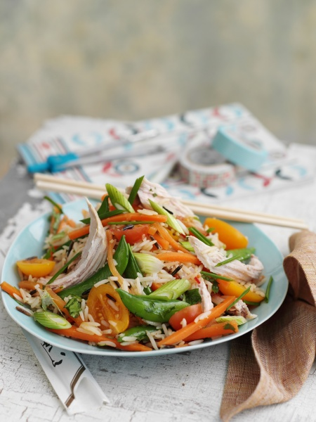 wild rice salad with chicken and