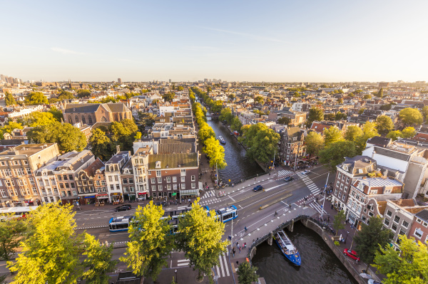 netherlands amsterdam view to