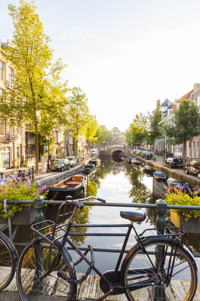 netherlands amsterdam parked dutch