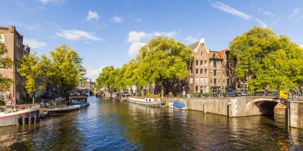 netherlands amsterdam houseboats at