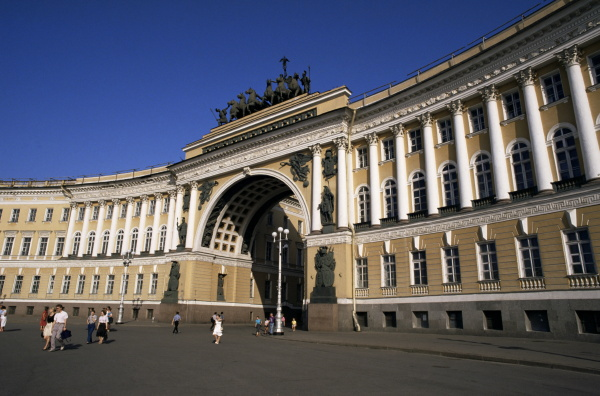 former general staff building and triumphal