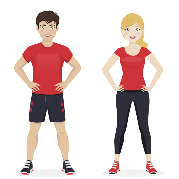 man and woman playing sport with