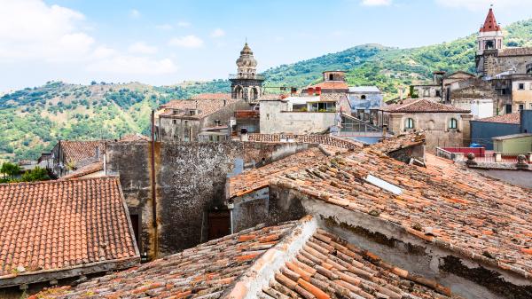 roofs and churches in castiglione di
