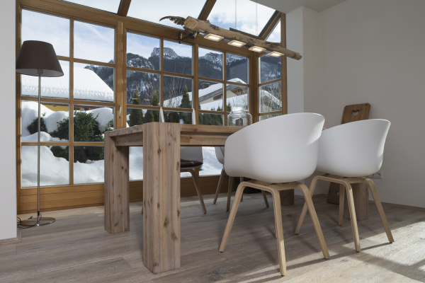 dining table in and design chairs