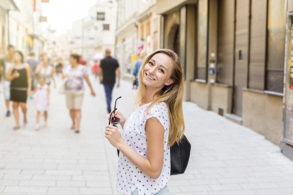 austria salzburg happy woman