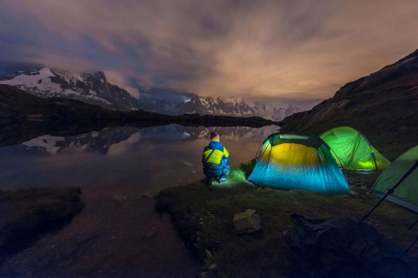 france mont blanc lake cheserys backpacker