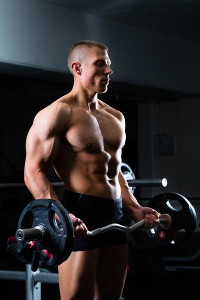 dumbbell training in gym