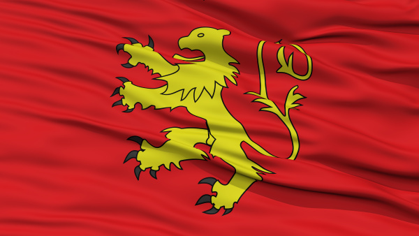 closeup valletta city flag malta