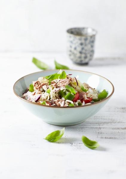 basmati rice and tuna salad with