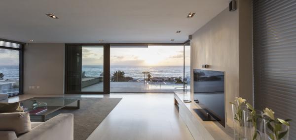 modern luxury home showcase living room