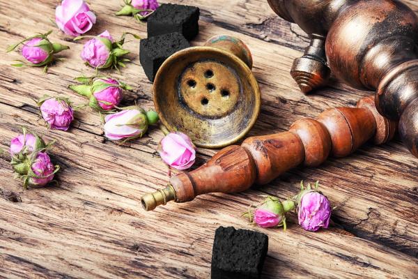 hooka with taste of tea rose