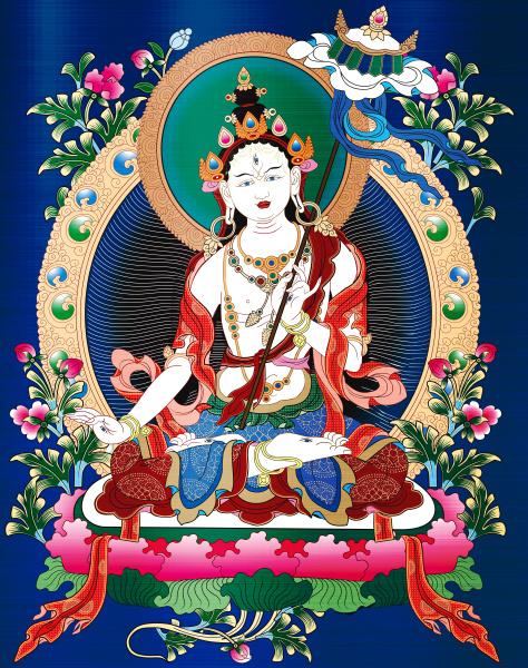 thangka buddhism antique asia meditating