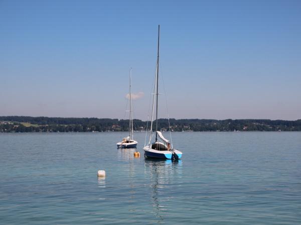 two sailing boats on blue lake