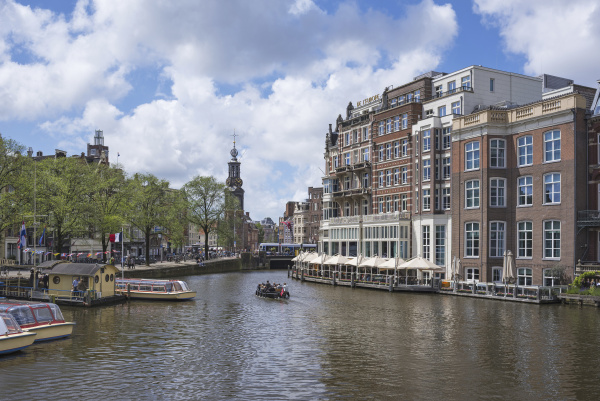 netherlands amsterdam view over