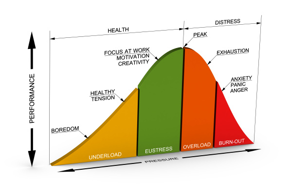 good and bad stress curve