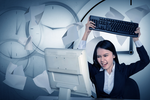 asian business get angry because overtime