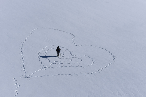 message of love from the snowy