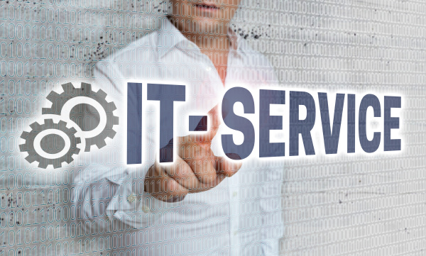 it service with matrix and businessman