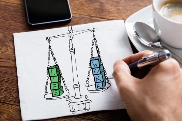 work life balance drawing