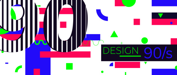 abstract retro background back to 90s