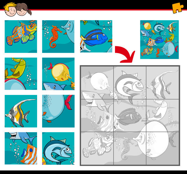 jigsaw puzzles with sea life characters