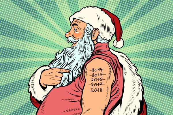 santa claus with tattoos 2018