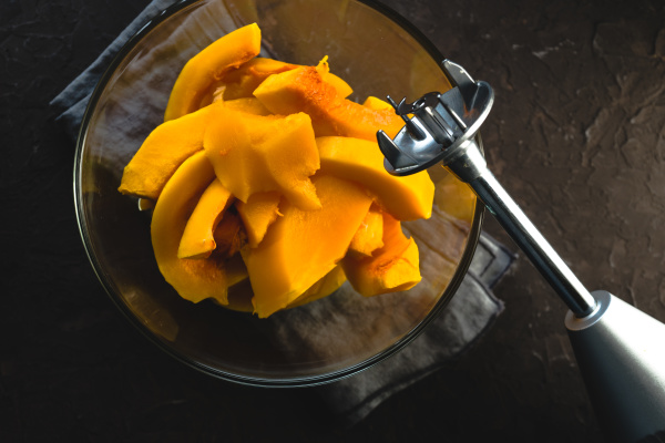 large pieces of pumpkin in a