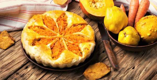 autumnal vegetable pie