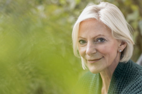 portrait of smiling senior woman in