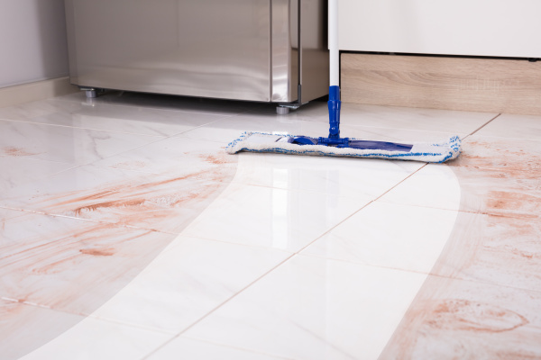 mop, in, kitchen, cleaning, dirty, floor - 23584738