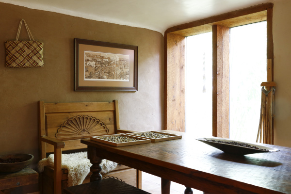 traditional indigenous dining room