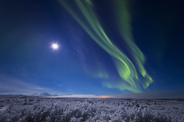 the aurora borealis and a nearly