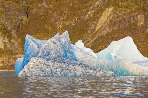 iceberg broken off from the retreating