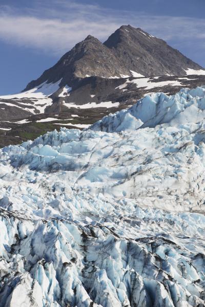 shoup glacier spilling over the chugach