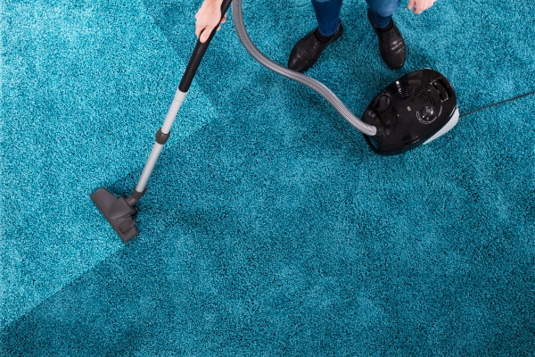person, cleaning, carpet, with, vacuum, cleaner - 23664000