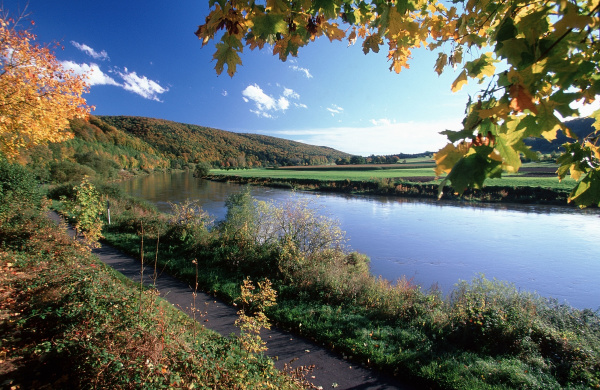 weser in autumn lower saxony
