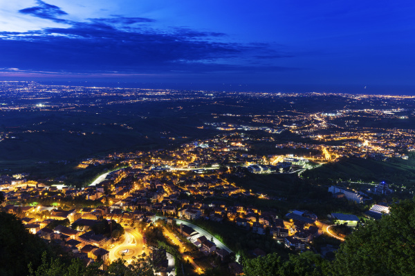 townscape at night