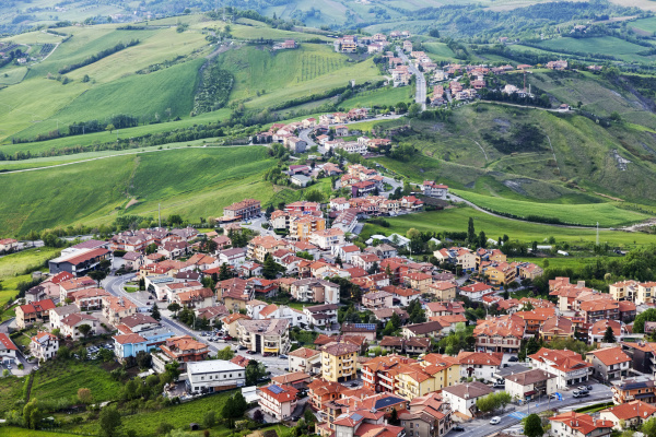townscape of san marino