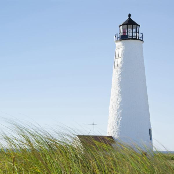 great point lighthouse against clear sky
