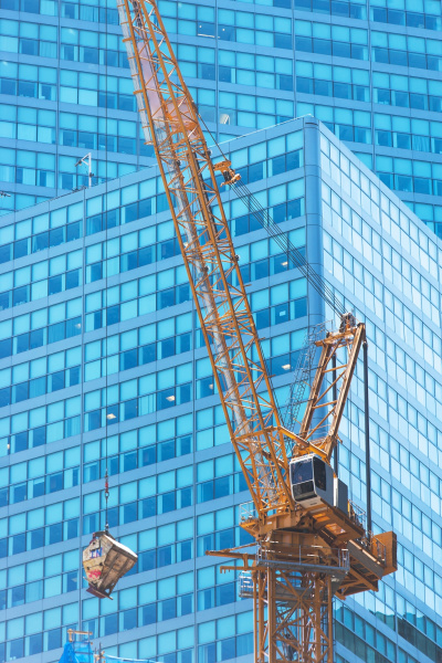 low angle view of crane against