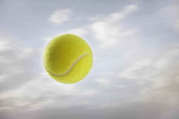 tennis ball against sky