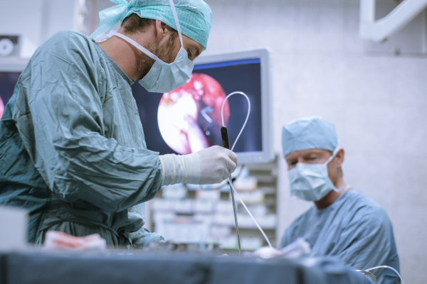 surgical nurse at work during an