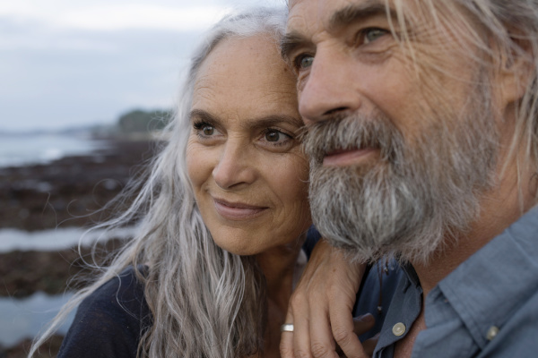 portrait of a handsome senior couple