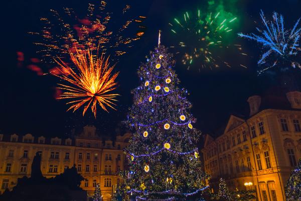 prague new year s fireworks 2018