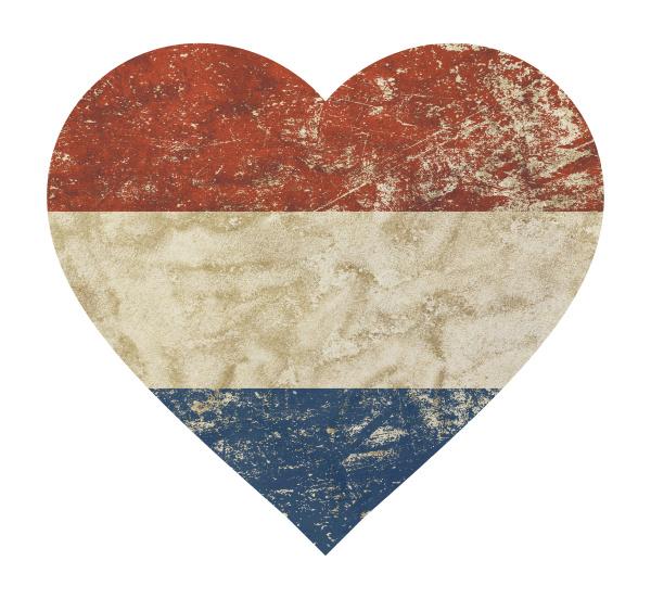 heart shaped grunge vintage flag of