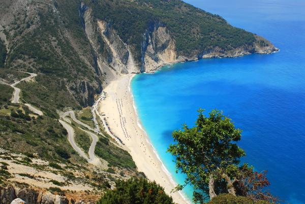 mirtos beach beach bay with