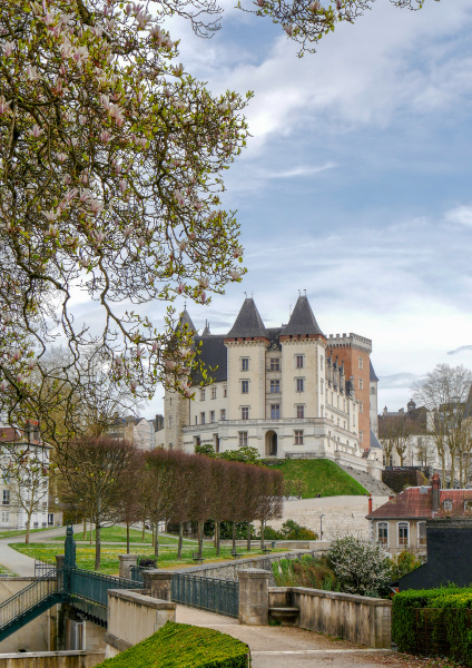 castle of pau city in france